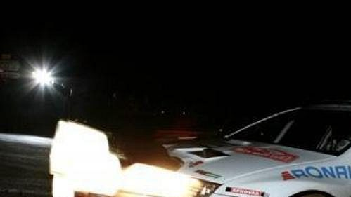 Jan Kopecký s fabií WRC na trati Rallye Monte Carlo.