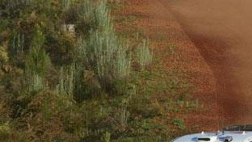 Sebastien Loeb na trati druhé etapy Australské rallye.