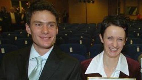 Nejlepší čeští junioři uplynulého roku (zleva): biatlonista Petr Hradecký, rychlobruslařka Martina Sáblíková a moderní pětibojař David Svoboda.