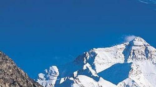 Peak 38 leží jen šest kilometrů od Mt. Everestu (na snímku).