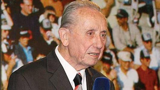 Fotbalový novinář František Steiner na archivním snímku.