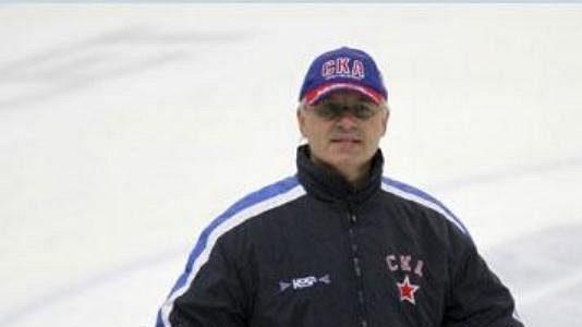 Trenér Václav Sýkora na tréninku Petrohradu