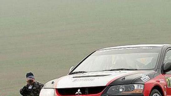 Karel Trněný při Rallye Šumava
