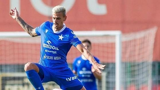 Český fotbalista Jan Kliment vstřelil v dresu Wisly Krakov první gól.