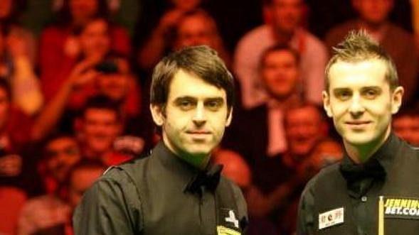 Mark Selby a Ronnie O'Sullivan na turnaji Masters