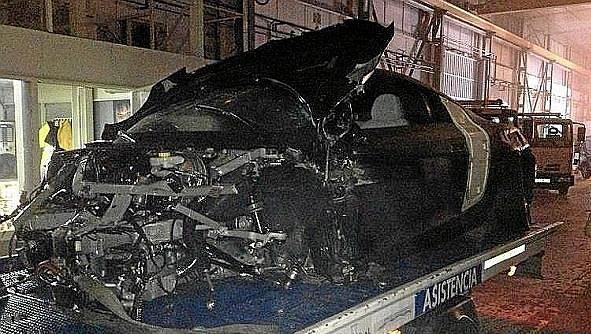 Sánchezovo Audi R8 je po nehodě na odpis.