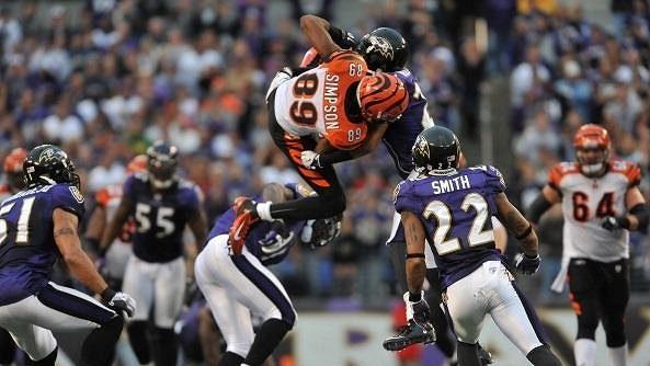 Jerome Simpson a jeho akrobatický catch proti Ravens