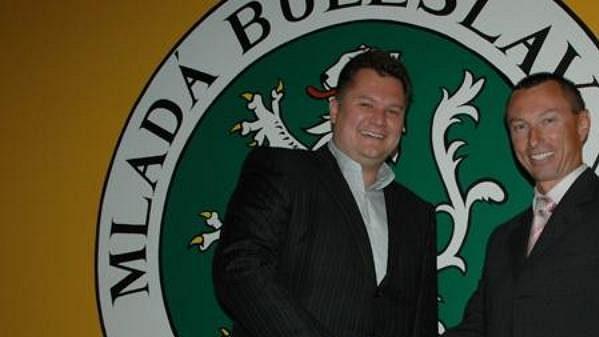 Cyril Suk (vpravo) coby nový generální manažer hokejistů Mladé Boleslavi