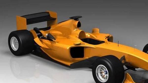 Počítačová studie nového vozu pro A1 GP, který vychází z monopostu formule 1 Ferrari F2004.