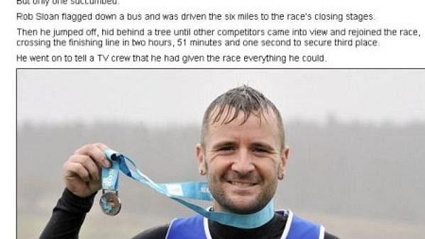 Falešný maratonec Rob Sloan