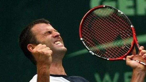 Francouzský tenista Marc Gicquel.