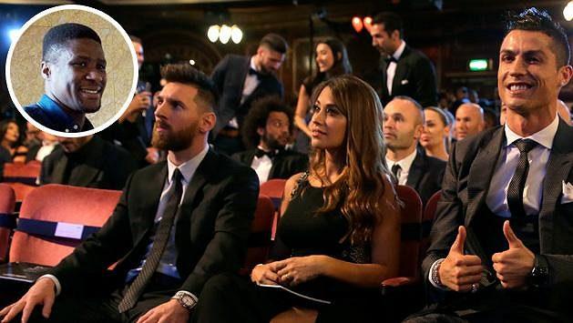 Francis Koné o ceremoniál po boku Messiho a Ronalda přišel.