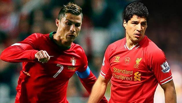 Cristiano Ronaldo (vlevo) se musí o trofej podělit s Luisem Suárezem.
