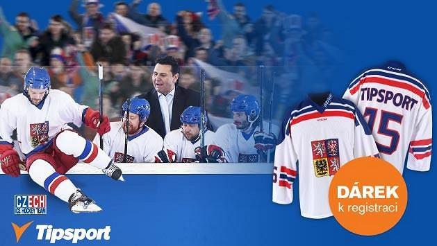 Tipsport rozdává 2 000 dresů české hokejové reprezentace. Získejte jeden z nich.