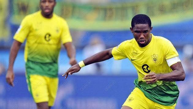 Samuel Eto'o (ve žlutém), ilustrační foto.