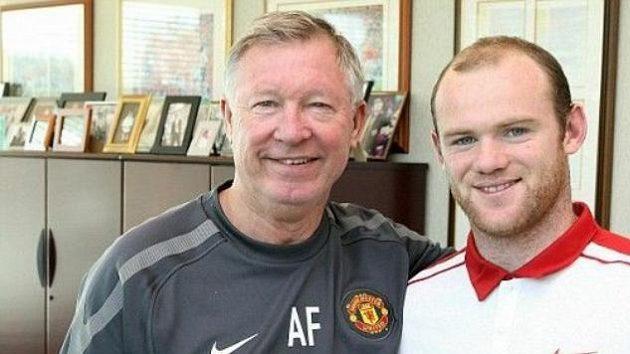 Alex Ferguson a Wayne Rooney - konec války.