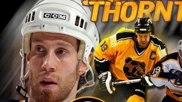 Hokejista Bostonu Bruins Joe Thornton.