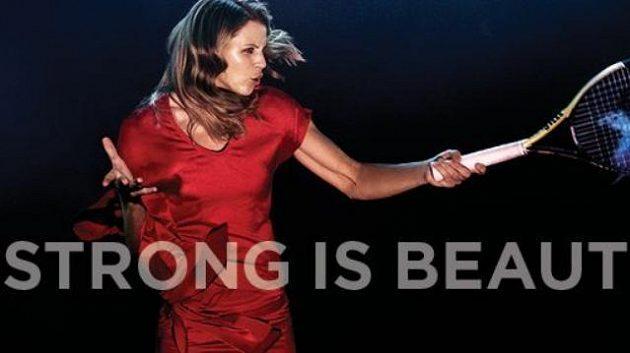 Lucie Šafářová v kampani WTA Strong is beautiful.