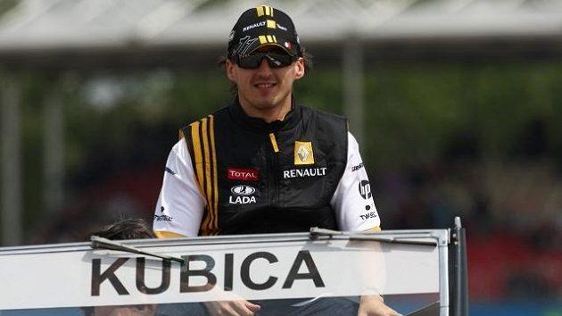 Polský závodník Robert Kubica.