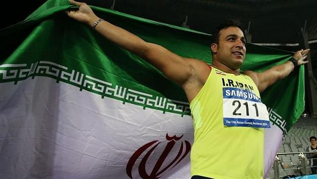 Íránský diskař Ihsan Hadádí.