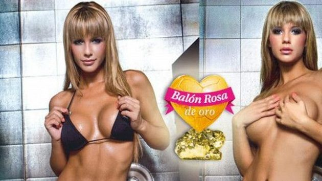 Růžový balón patří španělské sexy krásce Tamaře Gorro právem.