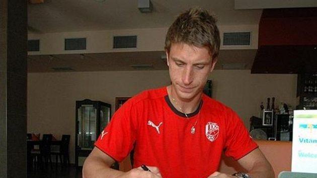 David Střihavka je kmenovým hráčem Plzně od roku 2007, ale teprve nyní s ní absolvoval svůj první trénink.