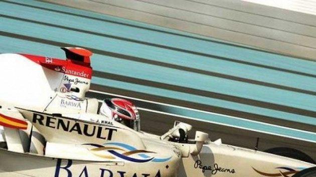 Josef Král s vozem GP2 stáje Addax