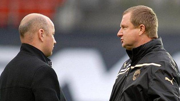 I ředitel plzeňského klubu Adolf Šádek (na snímku vlevo) opakoval, že trenéra Vrbu k reprezentaci uvolni nemíní.