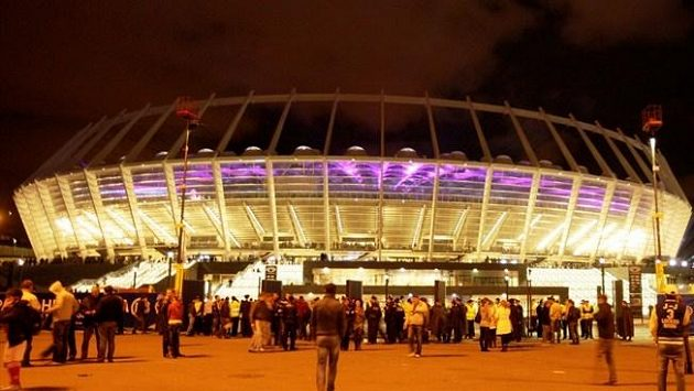 Fotbalový stadión v Kyjevě, dějiště Eura