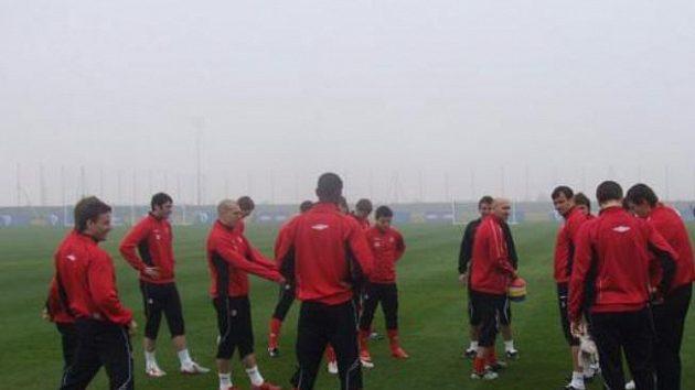 Fotbalisté pražské Slavie na soustředění v Dubaji