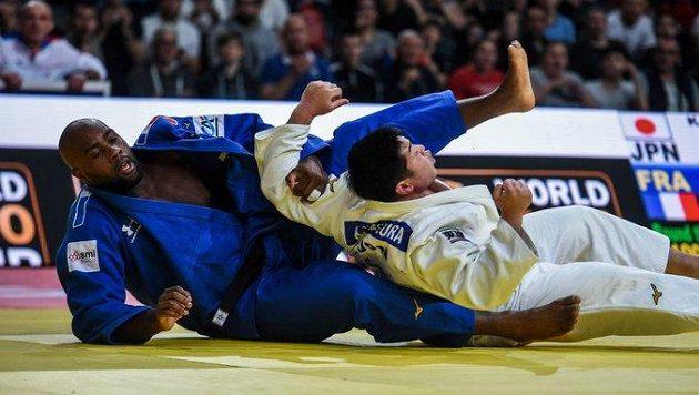Francouzský judistický fenomén Teddy Riner (v modrém kimonu), ilustrační foto.