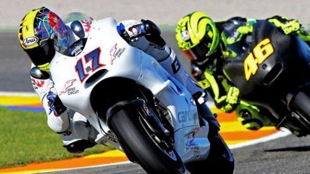 Karel Abraham na testech MotoGP ve Valencii