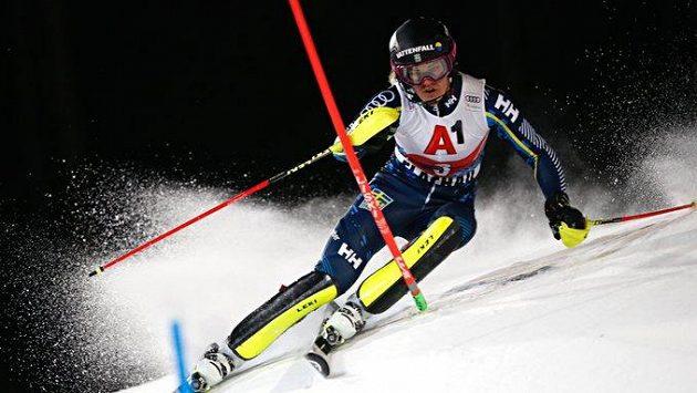Švédská lyžařka Anna Swennová-Larssonová na trati - ilustrační foto