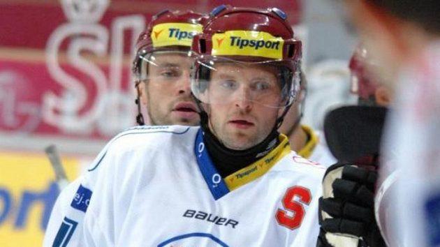 Útočníci hokejové Sparty Jaroslav Hlinka