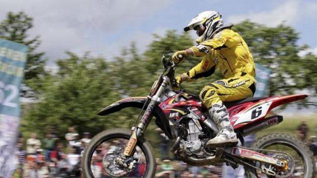 Motokrosař Martin Žerava při závodu mistrovství světa třídy MX3.