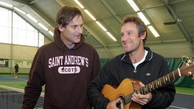 Karel Nováček (vlevo) a Mats Wilander