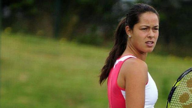 Ana Ivanovičová při tréninku