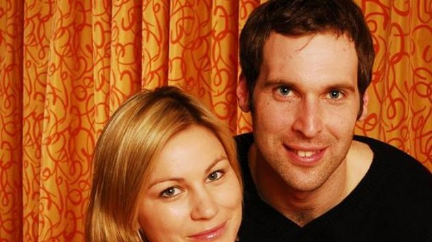 Petr Čech s manželkou Martinou a dcerou Adélkou