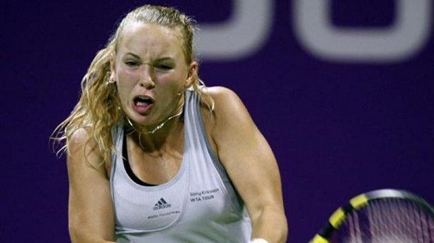 Dánská tenistka Caroline Wozniacká na Turnaji mistryň v Dauhá.