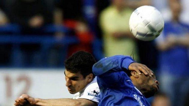 Momentka ze čtvrtfinále FA Cupu mezi Chelsea a Tottenhamem