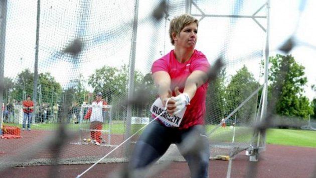 Vítězka hodu kladivem na Zlaté tretře Anita Wlodarczyková z Polska