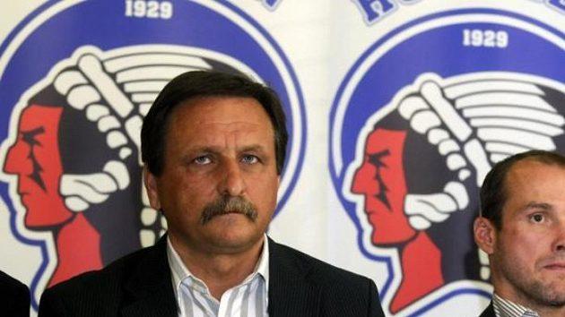 Generální manažer hokejistů Plzně Martin Straka (vpravo) a jednatel klubu Jaromír Zavoral.