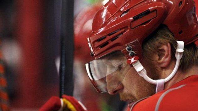 Hokejový útočník Marián Hossa ještě v dresu Detroitu