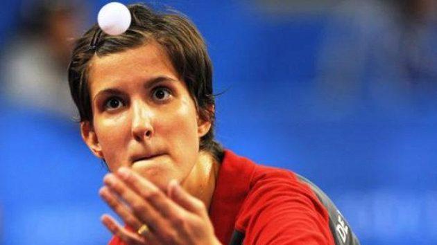 Česká stolní tenistka Michala La Bourdonnaye na paralympiádě v Pekingu.