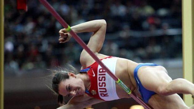 Ruská tyčkařka Jelena Isinbajevová na Mítinku světových rekordmanů v Praze.