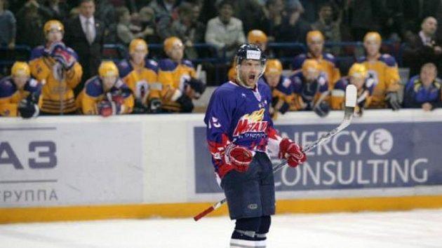 Jan Marek oslavuje gól proti Atlantu