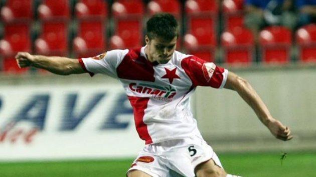 Výhru Slavie zařídil dvěma góly Ondřej Čelůstka.