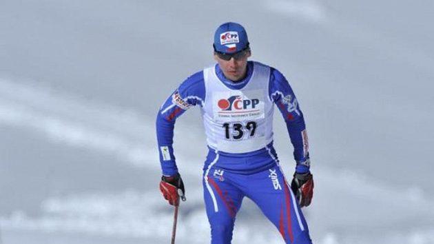Lukáš Bauer při soustředění na ledovci Dachstein.