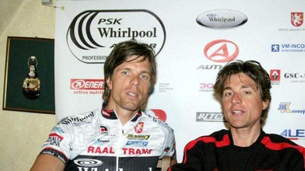 Němečtí borci v české cyklistické stáji: Danilo Hondo (vlevo) a Patrik Sinkewitz.