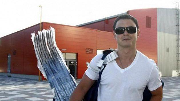 Jiří Hudler na srazu české hokejové reprezentace v Karlových Varech.